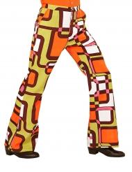 Calças groovy geométricas anos 70