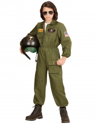 Disfarce piloto de combate menino