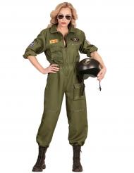 Disfarce piloto de caça mulher
