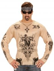 T-shirt tatuagens adulto