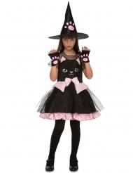 Disfarce bruxa gatinho menina Halloween