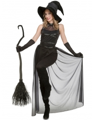Disfarce macacão bruxa preto mulher