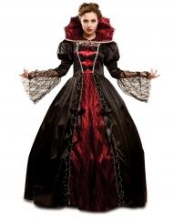 Disfarce vampiro barroco luxo mulher Halloween