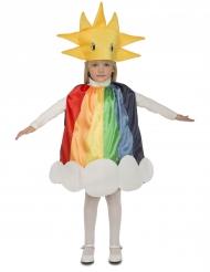 Disfarce arco-íris criança