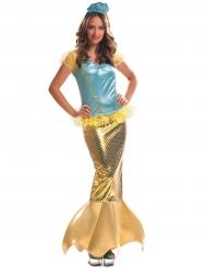 Disfarce sereia dourada mulher