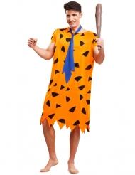 Disfarce pré-história cor de laranja homem