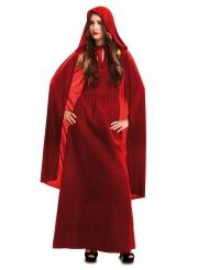 Disfarce bruxa vermelha mulher