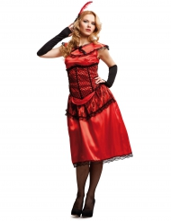 Disfarce cabaret vermelho mulher