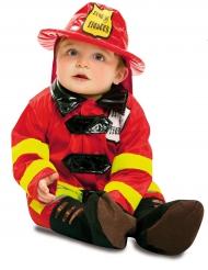 Disfarce bombeiro bebé
