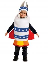 Disfarce foguete espacial criança