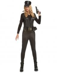 Disfarce macacão SWAT sexy mulher