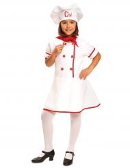 Disfarce cozinheira menina