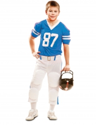 Disfarce de jogador de futebol americano azul menino