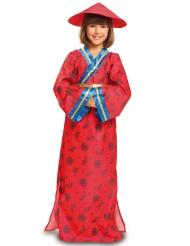 Disfarce chinesa vermelha menina