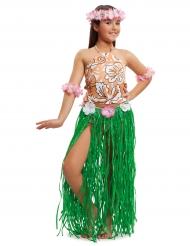 Disfarce havaiano menina