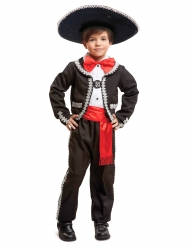 Disfarce mexicano menino preto e vermelho