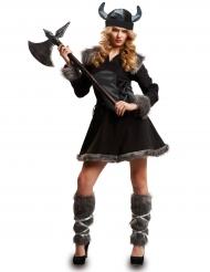 Disfarce viking preta mulher