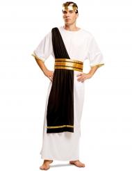 Disfarce mestre romano preto e branco homem