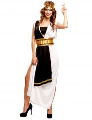 Disfarce mestre romano preto e branco mulher