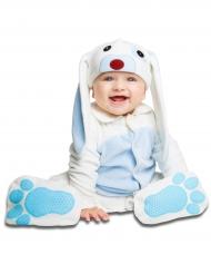 Disfarce coelhinho azul com chupeta bebé