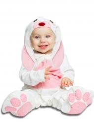 Disfarce coelhinho cor-de-rosa com chupeta bebé