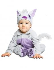 Disfarce gatinho para bebé com chupeta luxo