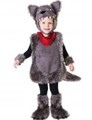 Disfarce lobo mau criança