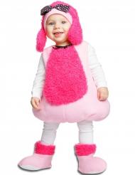 Disfarce caniche cor-de-rosa para bebé