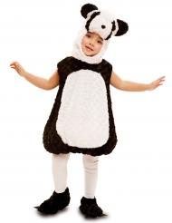Disfarce pequeno panda criança