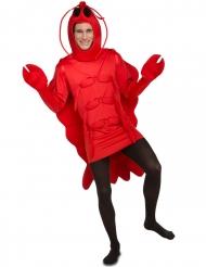 Disfarce lagosta vermelha adulto