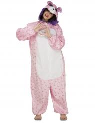 Macacão urso cor-de-rosa mulher