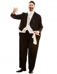 Disfarce humorístico cantor de ópera adulto
