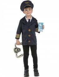 Disfarce piloto de avião com acessórios criança