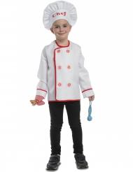 Disfarce vgrande cozinheiro com acessórios criança