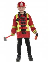 Disfarce bombeiro com acessórios criança