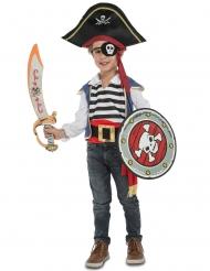 Disfarce pirata com acessórios - criança