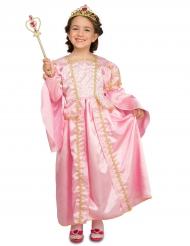 Disfarce princesa cor-de-rosa com acessórios menina