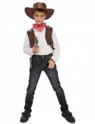 Disfarce cowboy com acessórios menino