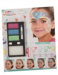 Maquilhagem princesa arco-íris menina
