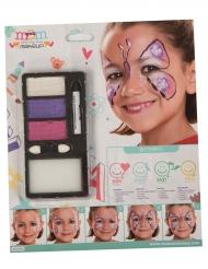 Kit de maquilhagem pérola borboletas menina