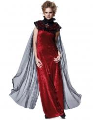 Capa véu preto gótica mulher Halloween