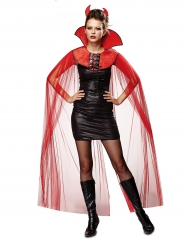 Capa véu diabo mulher Halloween