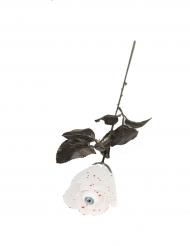 Rosa branca com olho 40 cm Halloween
