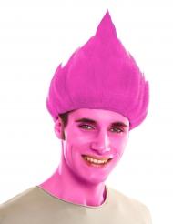 Peruca troll cor-de-rosa adulto
