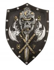 Escudo esqueleto viking luxo 48 cm