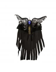 Decoração para pendurar esqueleto luminoso com asas Halloween