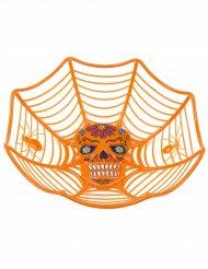 Tigela cor de laranja Dia de los muertos