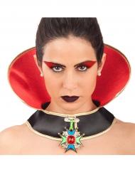Colar vampiro Halloween mulher