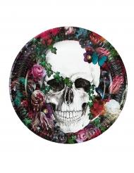 8 Pratos de cartão Dia de los muertos