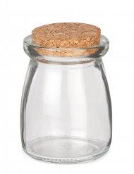Frasco de vidro com rolha de cortiça